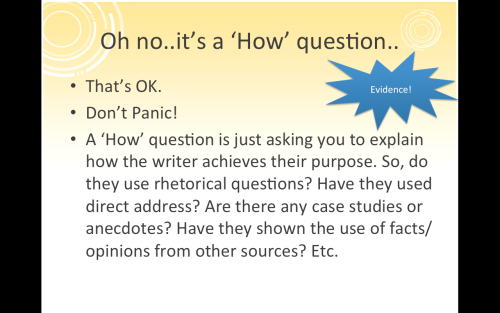 'How' Questions #EnglishGCSE #EnglishReadingPaper