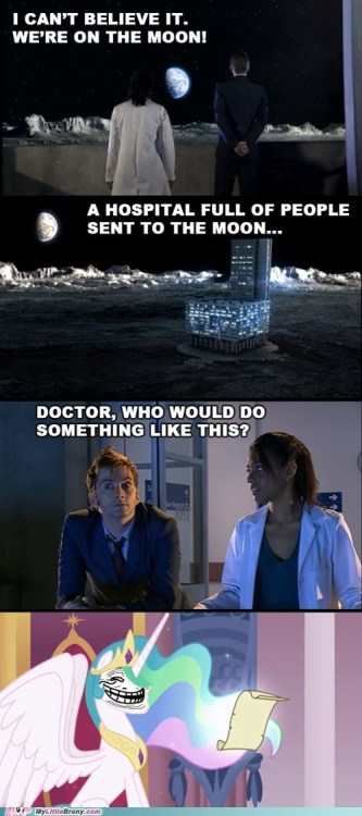 captainquackman:  Doctor, what did you do to her?
