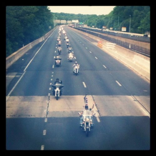 #RollingThunder coming down I-66E for Memorial Day in #DC. (Taken with instagram)