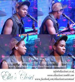 T-Ray from @WeAreCoverDrive wearing Customised cap by @EllasCloset for the Britain's got more Talent performance. #coverdrive #bajanstyle #bgmt