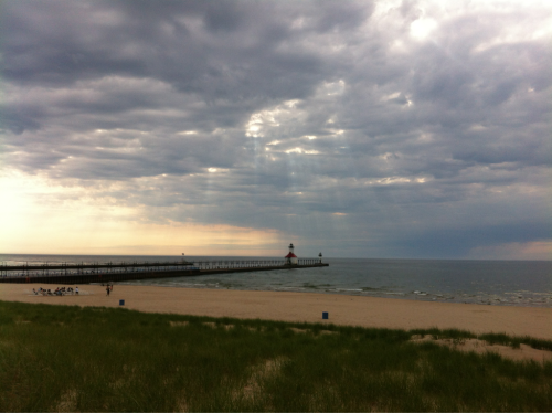 My shoot location in St. Joseph a couple days ago. #MichiganAwesome