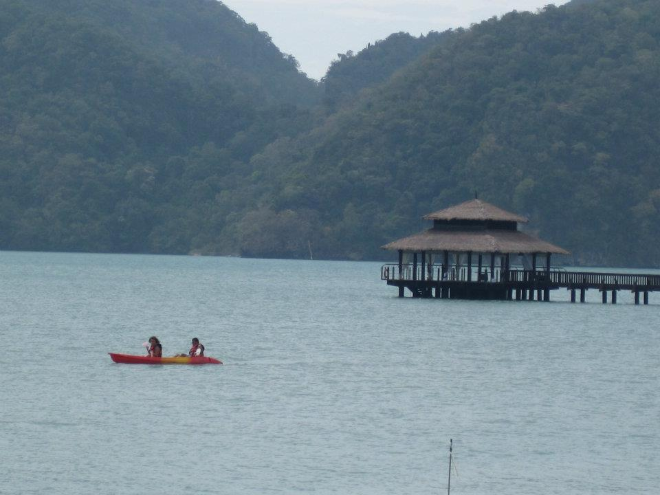 Chillin with the little sis in the water, canoeing. Langkawi, Malaysia Winter break, 2011
