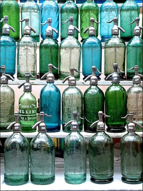 dutch1:  spring—green:  glass bottles… <3