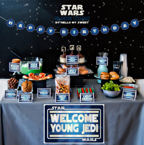 Our Star Wars Clone Wars printable birthday party decorations.
