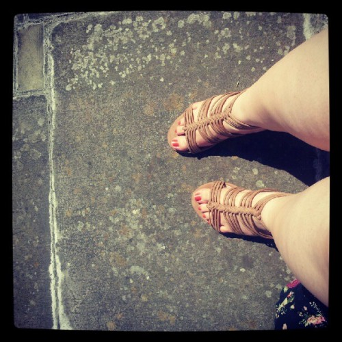 Hot feet!! (Taken with instagram)