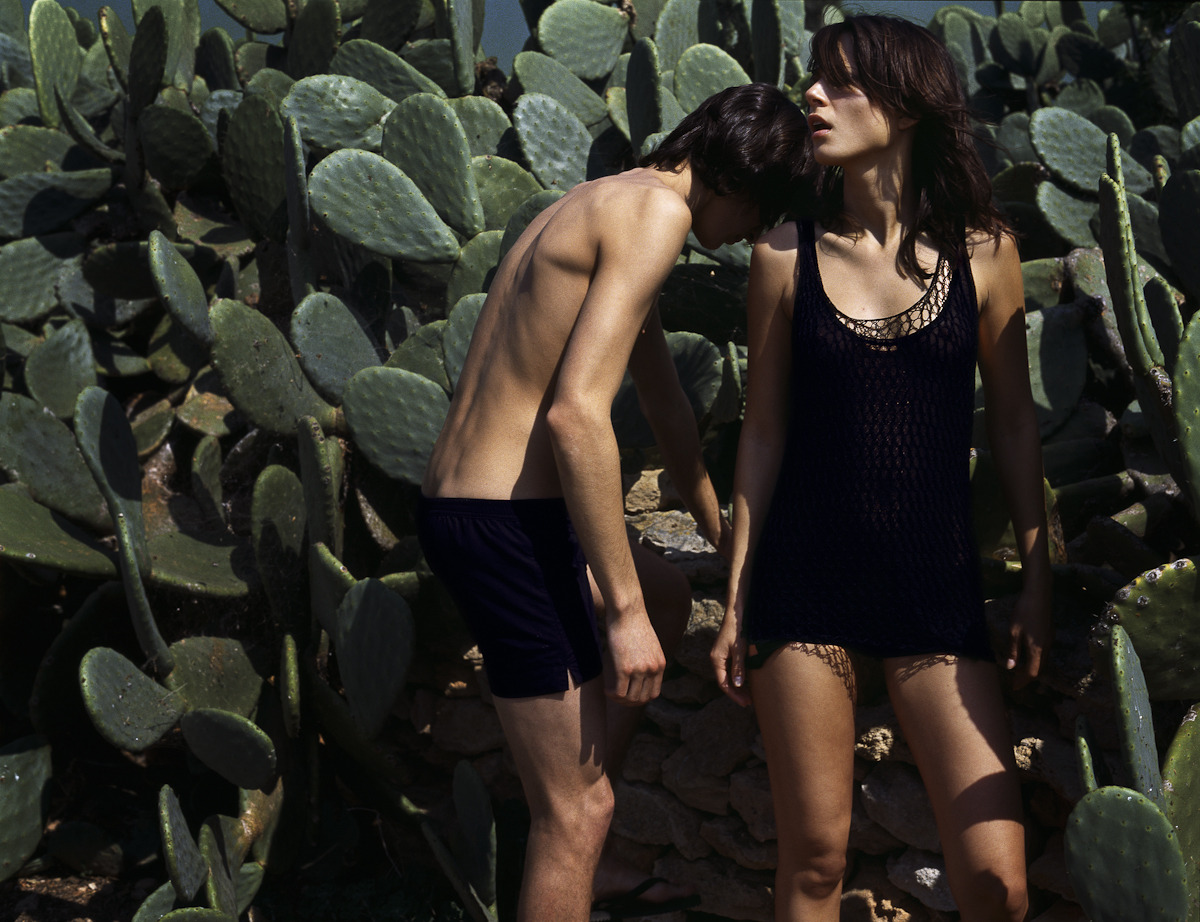 Models Nici and Arnaud for Allegra magzine.