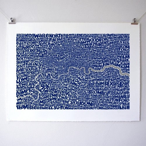 artmaps:  Greater London Type map Ursula Hitz