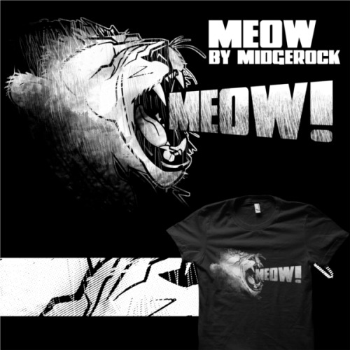 """Meow"" by midgerock Lions are just big ol' kitties! new design at my redbubble store."