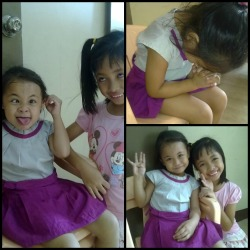 the dancers ~ Uella & Jasmine. havin' fun after our first practice. #saturday