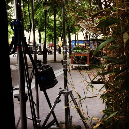 On set in Paris.  (Taken with instagram)