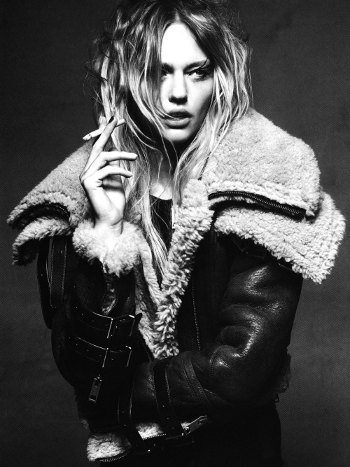 glamandvanity:  Sasha Pivovarova in 'Sasha' Photographer: Greg Kadel Jacket: Burberry Prorsum F/W 2010/11 Numéro China #3 November 2010