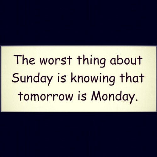 -___- #instagram #Sunday #Hatemondays  (Taken with instagram)