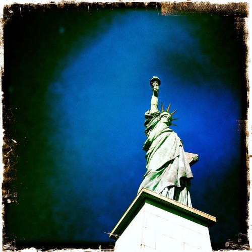 statue of liberty #copy #Paris #france  (Pris avec Instagram à Statue de la Liberté)