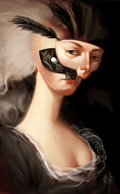 2headedsnake:  jeffsimpsonkh.deviantart.com Marie Antoinette by ~jeffsimpson