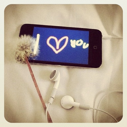 #ipod #dandelion #iloveyou :) (Taken with instagram)