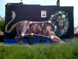 JAZ lion constellation in Baltimore art