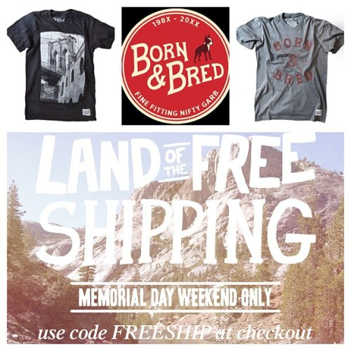 Don't forget! Land of the Free…Shipping! Today/tomorrow @ IAmBornandBred.com (Taken with instagram)
