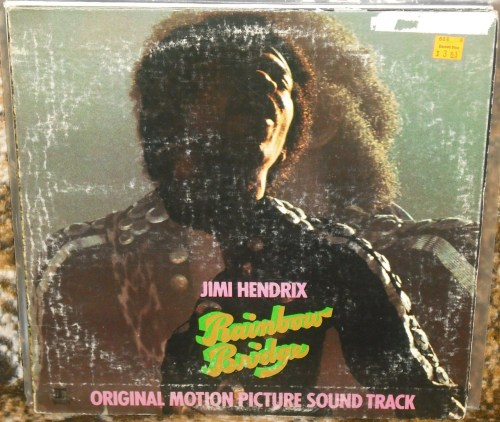 Jimi Hendrix - Rainbow Bridge Original Motion Picture Soundtrack.  The cover has obviously seen its share of abuse but the music is timeless.