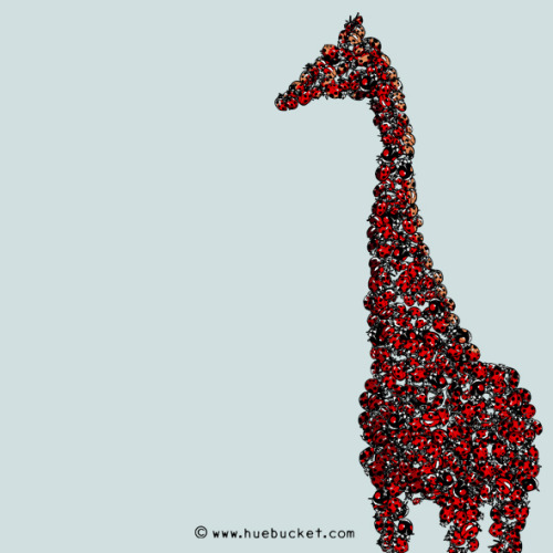 Red Giraffe llustrations daily #39 HUEBUCKET.COM  /  FACEBOOK  / TWITTER / SHOP / Etsy