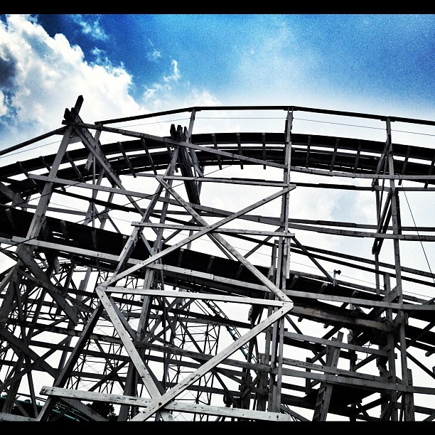 Thunderbolt at Kennywood Park (Taken with instagram)