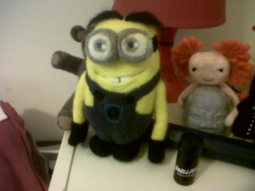 Needle felted minion (custom order)