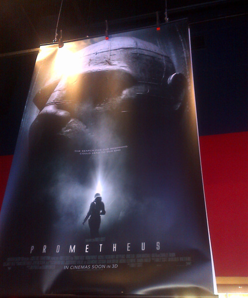Prometheus poster at the cinema