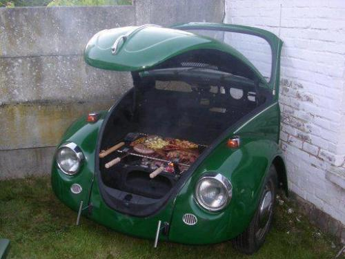 lickystickypickywe:  BBQ weekend in Brazil would include a Fusca grill.