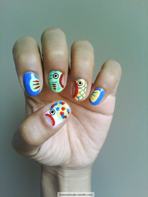 freestylenails:  My nails went fishing!