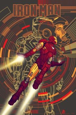 Iron Man poster for the Avengers movie. April, 2012. Art by Kevin Tong.
