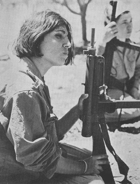 A Palestinian woman in training camp. Jordan, 1969.