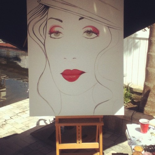 #workinprogress #cher #painting  (Taken with Instagram at Indian Bluff Island)