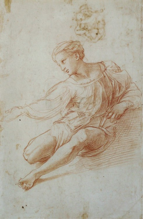 Raffaello Sanzio da Urbino, called Raphael Study for the Madonna Alba 15th century