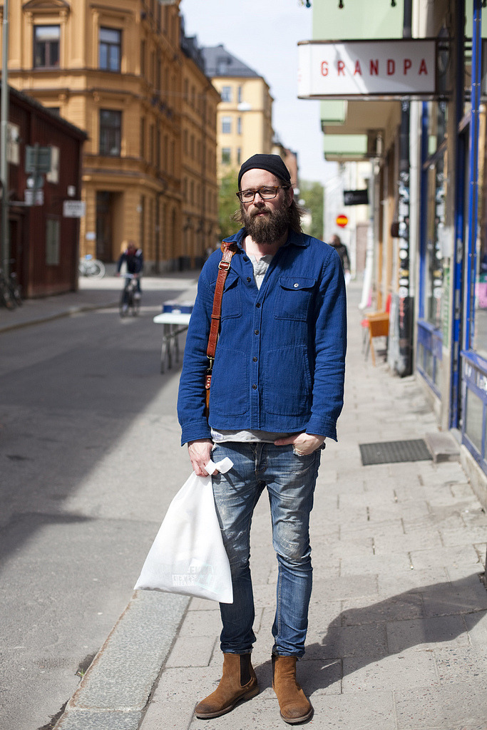 urbanemenswear:  Cool boots & distressed denim in Stockholm