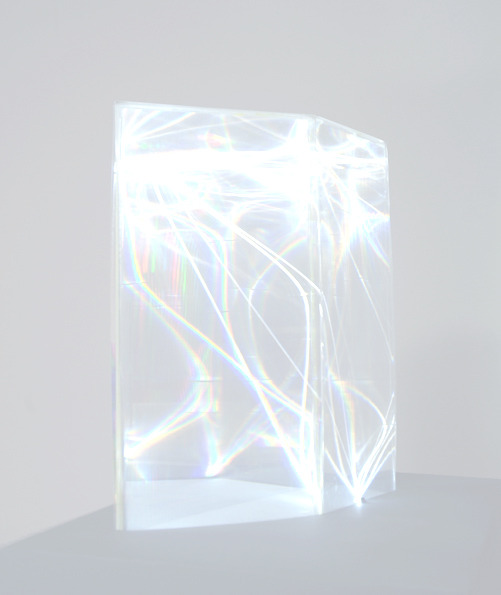 Light Catalyst (Optical fibres and pexiglass) by Carlo Bernardini