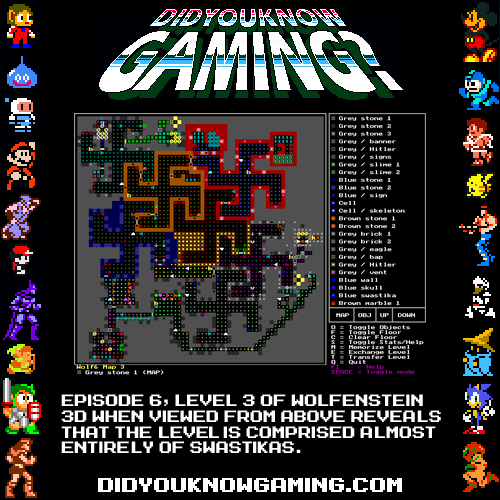 didyouknowgaming:  Wolfenstein 3D.