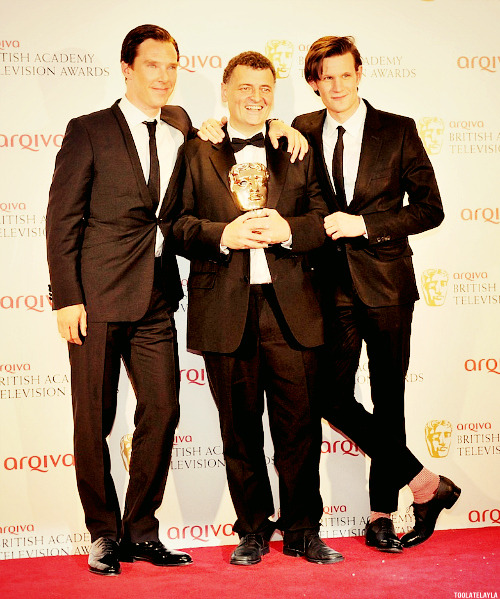 doctorwho:  The Legs, The Holmes, and Mr. Robinson  Holy Trinty @BAFTAs