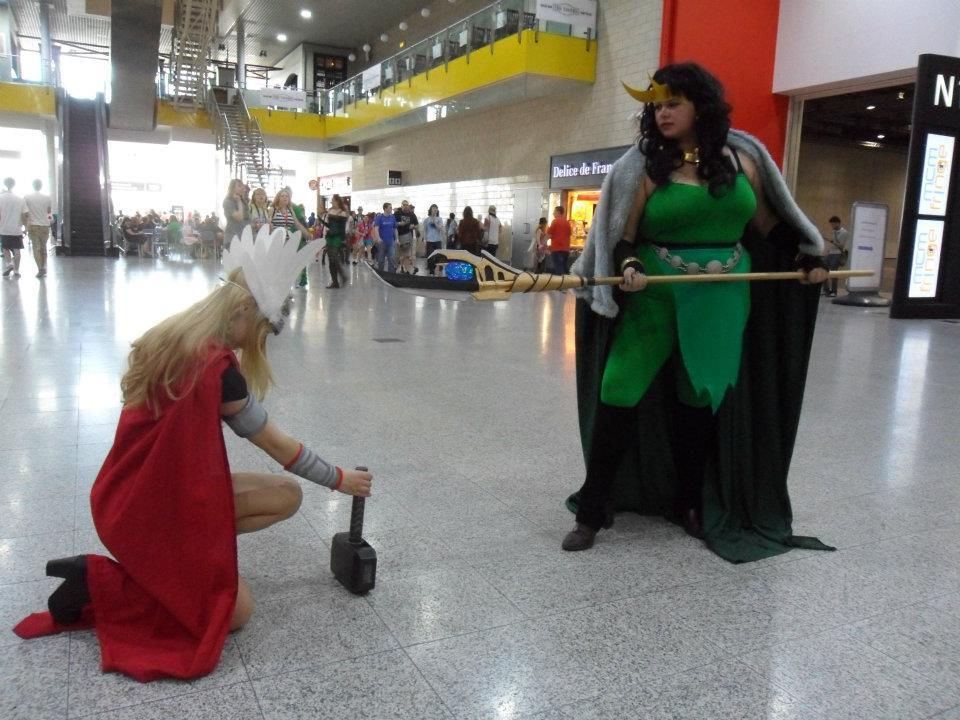 """Kneel to me, brother!"" Stolen from Alex's facebook, I hope she doesn't mind but this is too awesome"