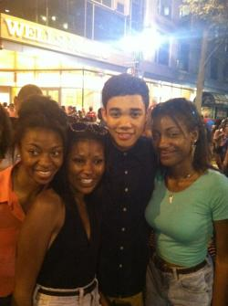 I met Roshon (Ty) from shake it up chicago!
