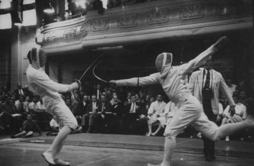 "John Dominic, ""Fencers Competing in the Olympics"""