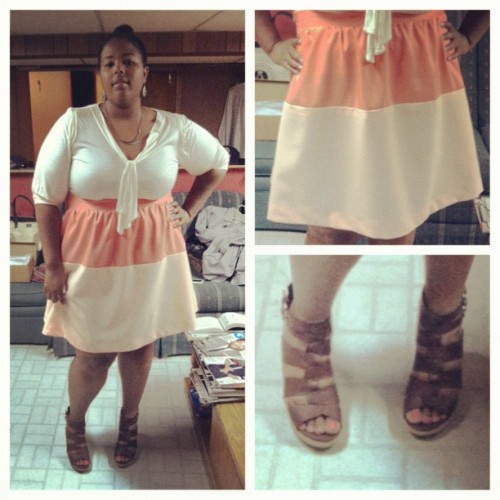 pooreyesrichlives:  @eurobella attending a spring wedding in the skirt I made her. (Taken with instagram)   This would kick ass as a dress.
