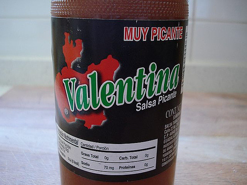 mexicanfoodporn:  Salsa Valentina etiqueta negra spicier than the normal Valentina, deeeelicious as well