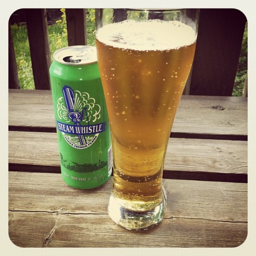 kentlepper:  Steam Whistle Pilsner (Taken with instagram)