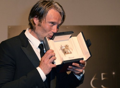 Mads Mikkelsen wins Best Actor prize at Cannes for Thomas Vinterberg's The Hunt!