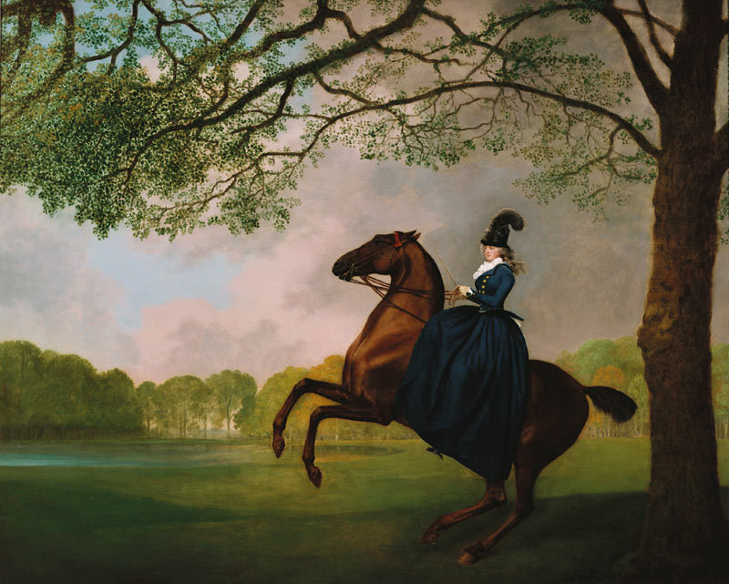 Laetitia, Lady Lade (1793) | art work by George Stubbs
