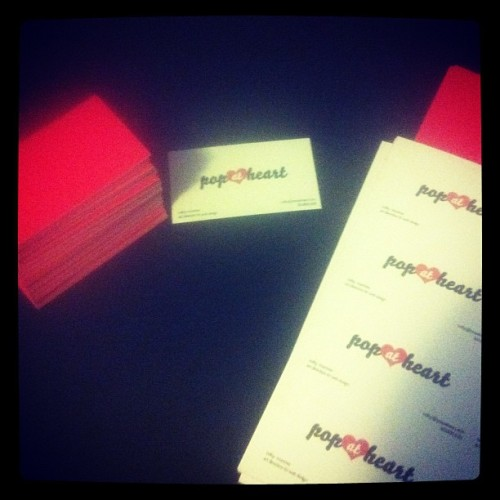 Cutting hand made business cards for @popatheart (Taken with instagram)