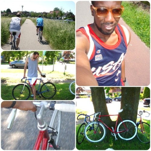 Shotta Crew Riders #Amsterdam to #Utrecht #50KM #32miles #fixie #likeaboss (Taken with instagram)