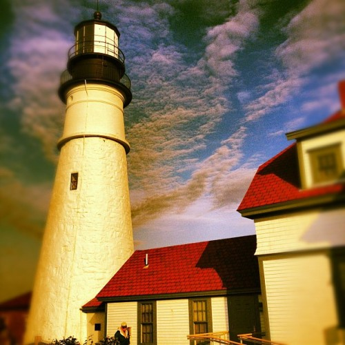 obligatory lighthouse shot #memorialday  (Taken with Instagram at Portland Head Light)