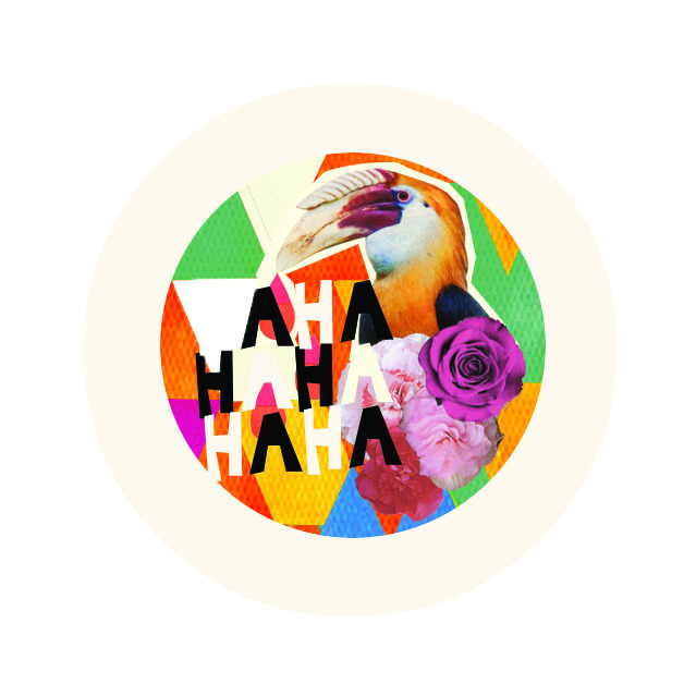 GIVEAWAY!  HAHA Artist Series Button #3  Designed By: Laura Redburn of CARDBOARDCITIES Our Artist Series Button collaboration continues with UK Graphic Designer/Collagist Laura Redburn. Laura was having a tropical vibe when she created these colorful pins for us. If you want them, you gotta tell us! The next 25 people who tweet that to @hahamag, or click here to message us, or comment on this post will be sent these limited edition buttons on us!  Let the fun begin! *see our past collaborations here.