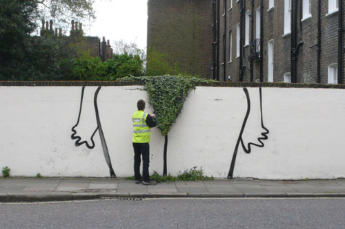 Banksy 'Bush' Piece in London