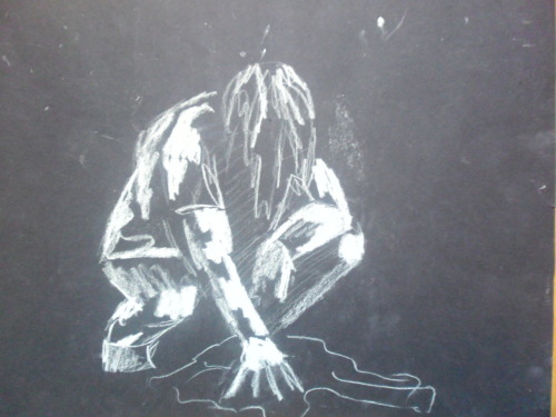 Life drawing. White chalk on black paper. I'm an art student and in college we had the opportunity too draw from a model. I'l post up a few of my sketches here for ye ;) Enjoyed this and want more?? Sure then you might as well like my facebook page! it'd really help me out as well :) Facebook: http://www.facebook.com/The.Chris.Hayes.Art.Gallery